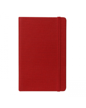 Fabio Ricci Tria Lined Journal - Red / 22.8 x 35.5cm (Premium Quality Ivory 80GSM Paper - 160 Pages) Textured Linen Cover