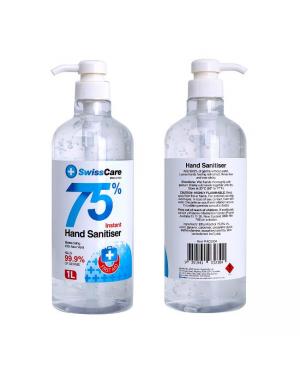 SwissCare 75% Instant Hand Sanitiser 1L