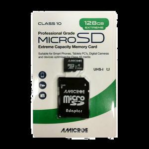 Amicroe AMI128GB-TF1XC10 128GB Micro SD XC Class 10 - U1 Memory Card