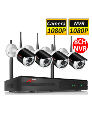 Anran 1080P Wireless IP Camera Security System 8CH WIFI NVR Surveillance Video CCTV IR-Image 1