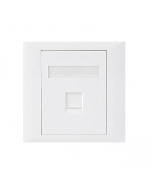 Astrotek ATP-SC-5E-1 RJ45 Wall Face Plate 86x86mm 1 Port Socket Kit
