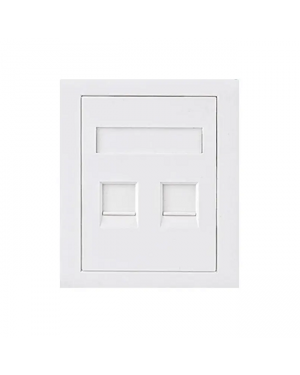 Astrotek ATP-SC-5E-2 RJ45 Wall Face Plate 86x86mm 2 Port Socket Kit