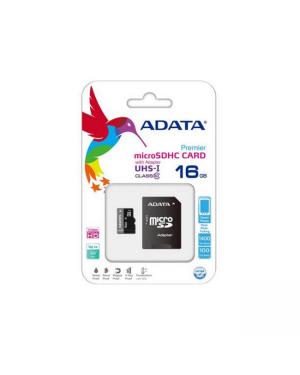 Adata AUSDH16GUICL10-RA1 16GB MicroSDHC w/SD Adapter