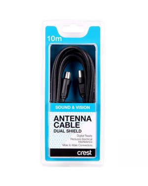 Crest CNA05069 Antenna Cab D-Shield M-M 10M Bk-Image 1