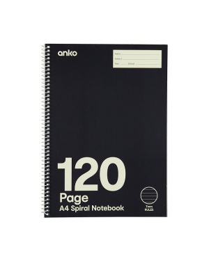 SPIRAL A4 NOTEBOOK 120 PAGES- ANKO-Image 1