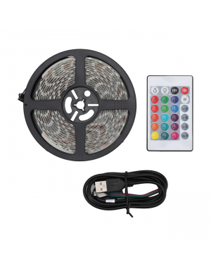 LED Strip light with remote-5m cable length-Image 1