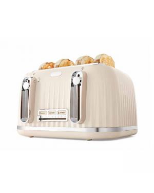 4 Slice Euro Toaster-Almond
