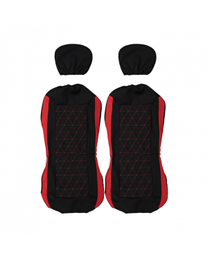 3 Seat Covers-Red Stripe