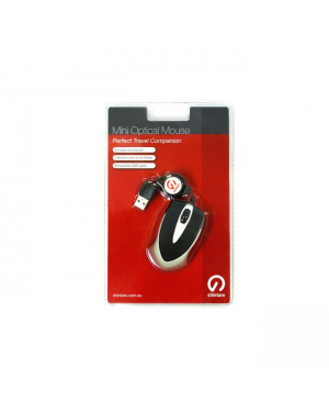 Shintaro SHM02 Mini Optical Mouse w/retractable cable