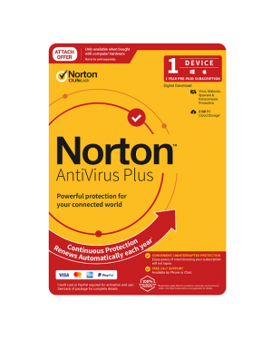 Norton SNNAVPLUS Anti Virus Plus 2020 2GB 1U 1Dev 12M