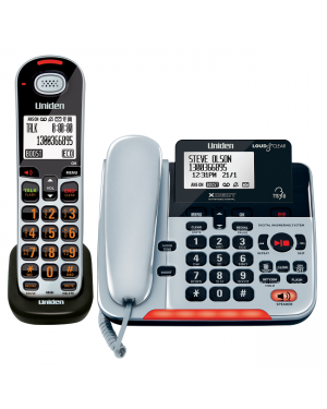 UNIDEN SSE37+1 Visual and Hearing Impaired Corded and Cordless Digital Phone System
