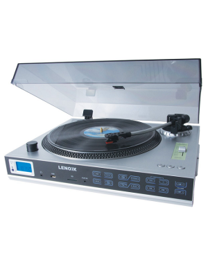 Lenoxx TT650 Turntable With Built In Speakers & USB Recording